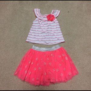 Little Lass Other - Girls shirt and skirt set