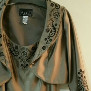 Alex Evenings Dresses & Skirts - Bronze evening gown with bolero jacket