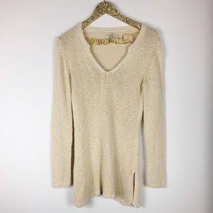 Tommy Bahama Sweaters - Tommy Bahama Tan V-Neck Linen Sweater
