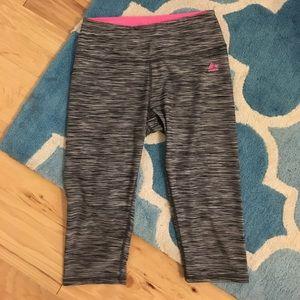 Pants - Gray workout crop pants
