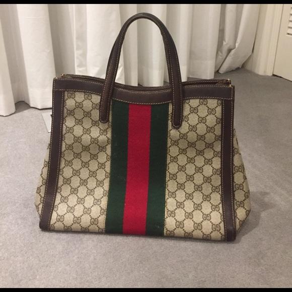 acfa45ef8dd Gucci Handbags - Vintage Gucci GG Supreme Canvas Tote