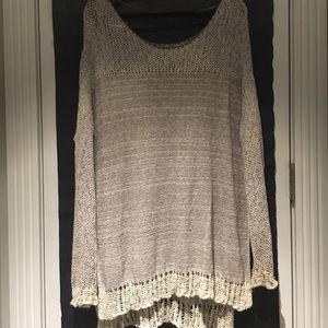 Free People baggy Knit grey sweater size M