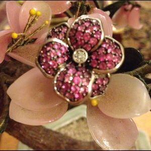 Vintage Jewelry - Vintage 925 JWBR pink Amethyst flower ring