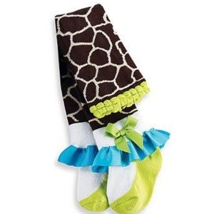 Mud Pie Other - Nwt toddler giraffe print tights in sz 2T/3T