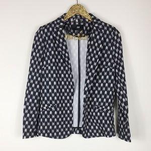 H&M Black & White Printed Blazer