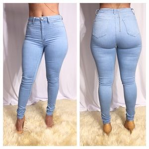Light Blue High Waist stretchy denim jeans new