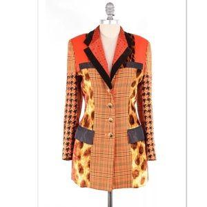 Escada Jackets & Blazers - VTG Escada mixed media double-breasted blazer