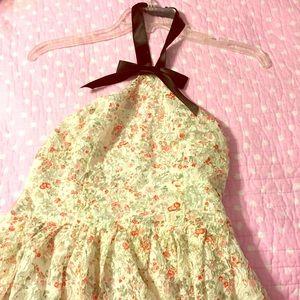 Rodarte Dresses & Skirts - Floral print bow neck halter dress. Never Worn!