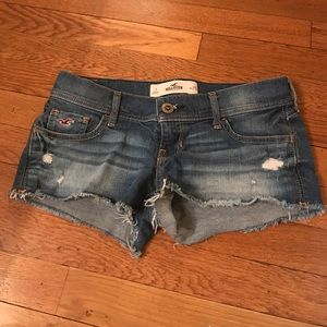 Hollister Pants - Hollister Distressed Short Shorts Cutoff