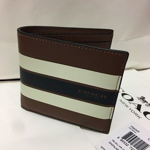 Coach Other - Coach Men Wallet Double Bill Leather