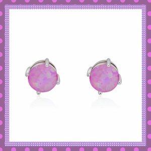 Boutique Jewelry - 💜STUNNING light purple Fire Opal Stud Earrings💜