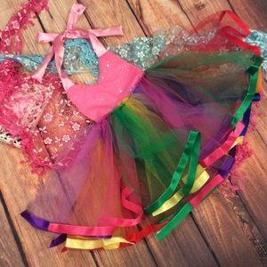 Other - Boutique Baby GirlPink Sequin Rainbow Tutu Dress