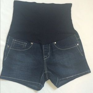 Bella Vida Maternity Pants - Dark Denim Maternity Shorts