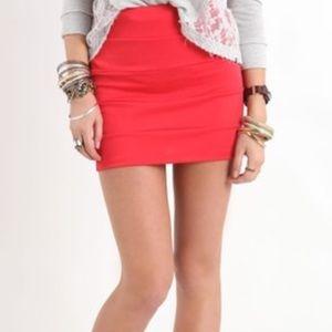 Nollie Dresses & Skirts - NOLLIE bodycon red skirt