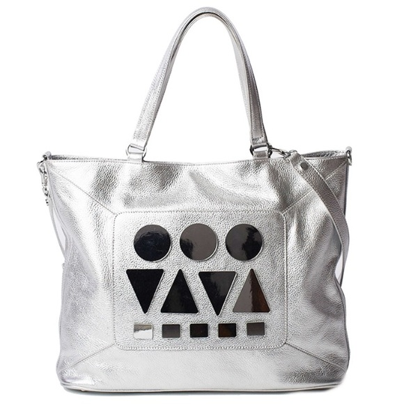 Bizi Buenos Aires Large silver leather tote bag 💕 baac2731ebd13
