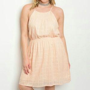 Dresses & Skirts - PLUS peach dress