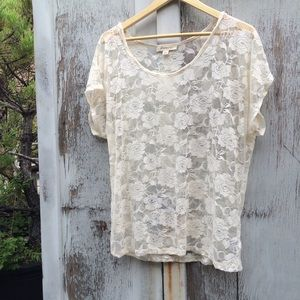Zara Tops - Floral Lace Top