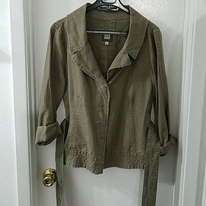 Old Navy linen belted blazer