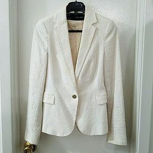 ZARA off white slim fit blazer