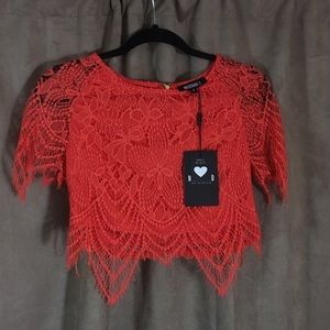 NWT lace crop