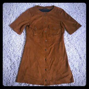 Zara Trafaluc brushed Suede Dress