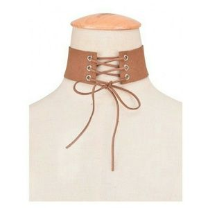 Jewelry - camel lace choker