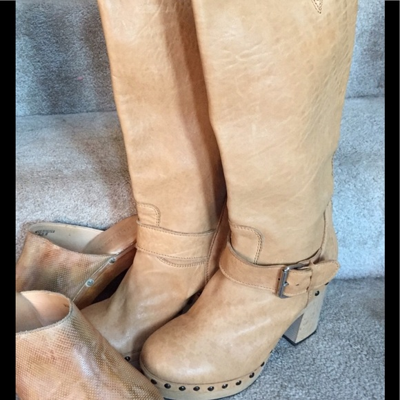 Shoes - B&D style studded clog tall boots @ sz 8 run Sm