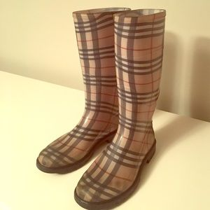 5a7dbc20cb3fd Burberry Shoes | Authentic Nova Check Rain Boots | Poshmark