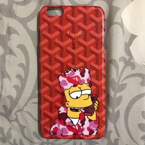 Goyard Accessories - Red Goyard Killa Bart Bape Case for any iPhone!!