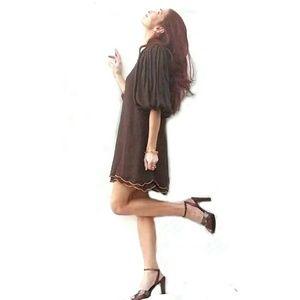 Alice + Olivia Dresses & Skirts - Alice + Olivia Silk Balloon Sleeve Dress- Small