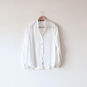 Mango Tops - Mango white shirt