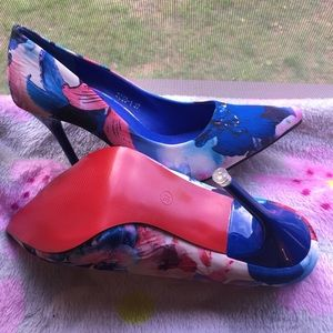 NWOT! AIKO SHOES Floral Red Bottom Pumps! FINAL