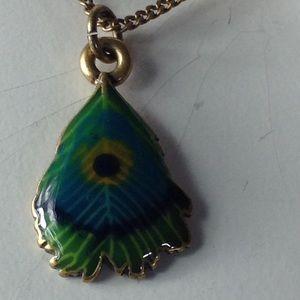 Lucky You 🍃 Peacock Necklace