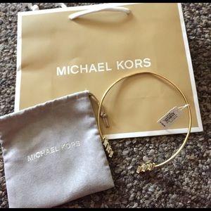 Michael Kors Jewelry - MK Gold Baguette Collar Necklace