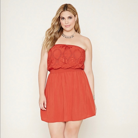 Forever 21 Dresses Burnt Orange Dress Plus Size Poshmark