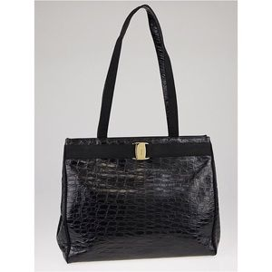 Salvatore Ferragamo Handbags - Salvatore Ferragamo Designer Crocodile Tote Bag