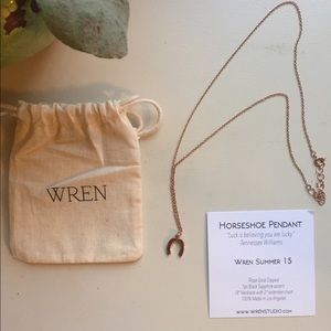 Wren Jewelry - Brand new, never worn rose gold horseshoe necklace