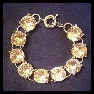 J. Crew Jewelry - SALE!!! J crew pink / champagne crystal bracelet