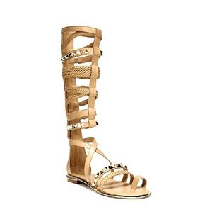 Fergie Shoes - New Tan/Gold Gladiator Sandals