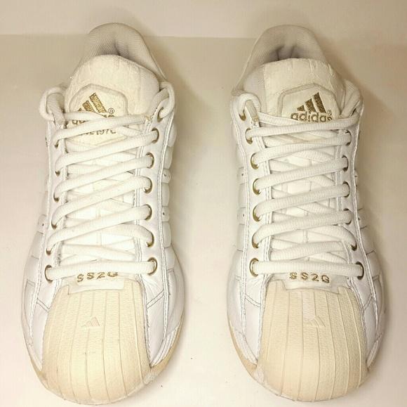 Adidas Other - Adidas Superstar 2G SS2G Athletic White   Gold sz7 b03ead31a