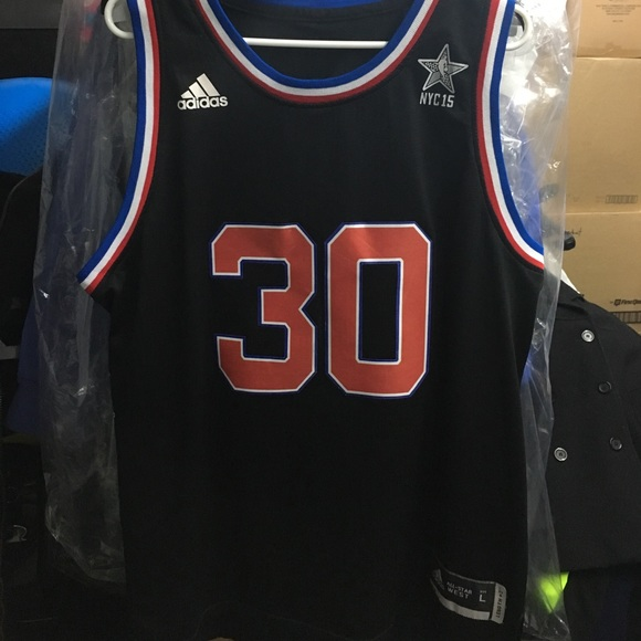 new product 48c97 57a54 Stephen Curry 2015 West All Star Jersey L