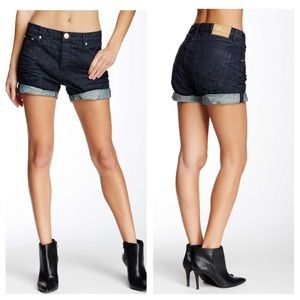 One Teaspoon Raw Denim Chargers Shorts 26