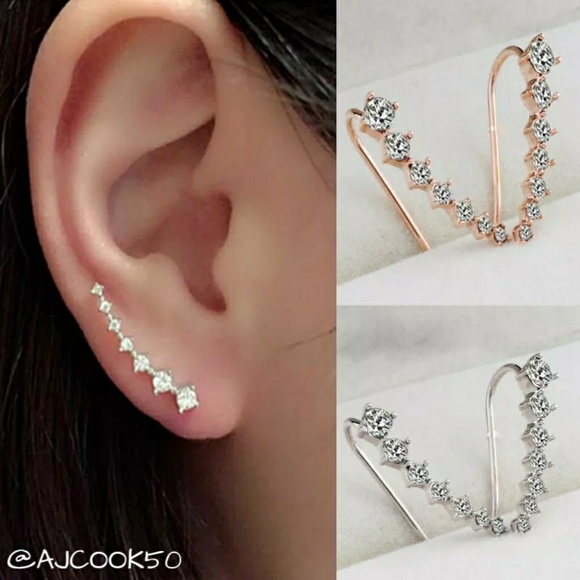 Jewelry - 💕2 for $15💕Crystal Climber Earrings
