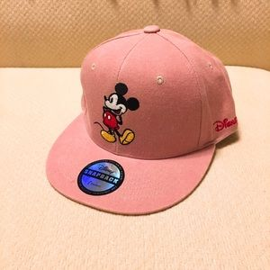 Vintage pink Mickey embroidered SnapBack hat cap