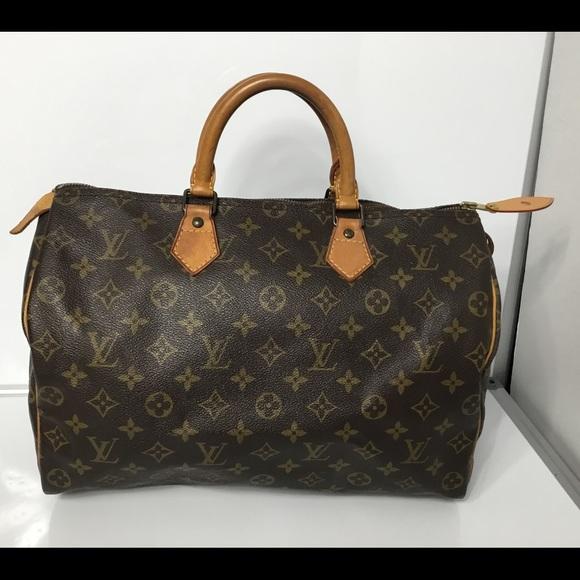 Louis Vuitton Handbags - 100%Authentic Louis Vuitton 1990 Vintage Speedy 35 33450c2276255