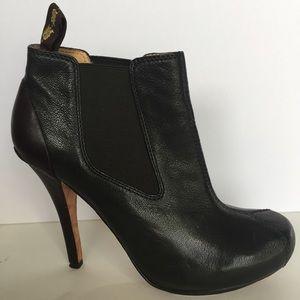 L.A.M.B. Shoes - L.A.M.B. Hunter Green & Brown Platform Bootie - 8