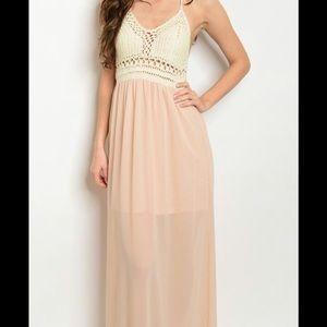 fbcf533695e2a Dresses - Crochet Halter Maxi Dress