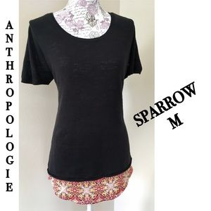 ⤵️Anthropologie Sparrow layered sweater top M