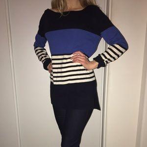 Striped Kate Spade boat neck sweater