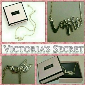 "Victoria's Secret Jewelry - 🆚   💕 ""LOVE ME"" 💕 Name Plate NECKLACE 💕 H P 💕"